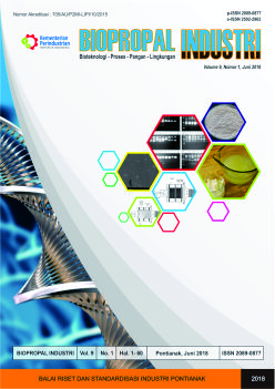 Biopropal Industri, Vol 9, No.1, June 2018