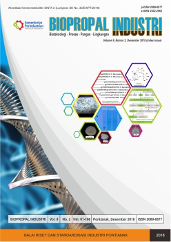 Biopropal Industri, Vol. 9, No. 2, December 2018
