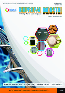 Jurnal Biopropal Industri Vol 11 No 1 Juni 2020