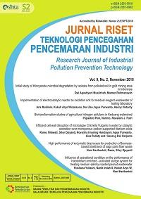 Jurnal Riset Teknologi Pencegahanencemaran Industri