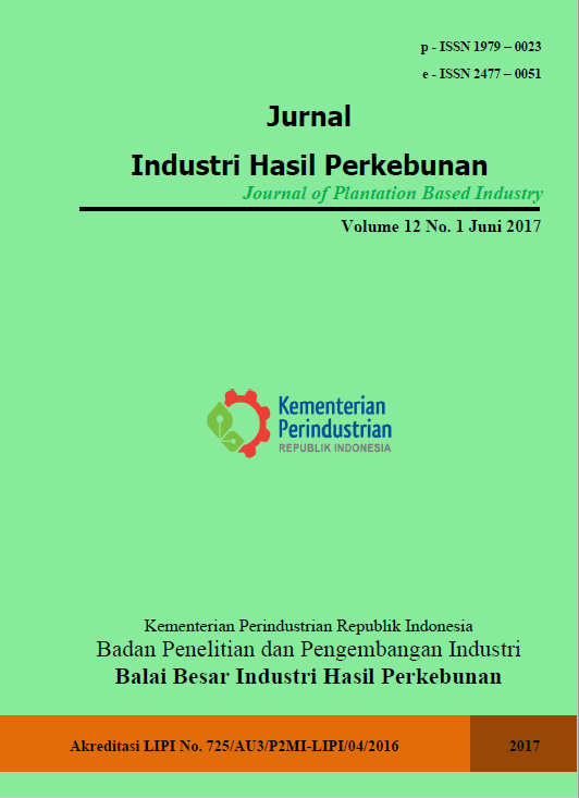 Jurnal Industri Hasil Perkebunan Volume 12 No. 1 Juni 2017